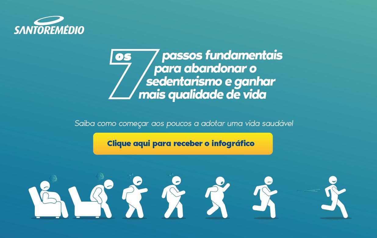 Infográfico 7 passos para abandonar o sedentarismo